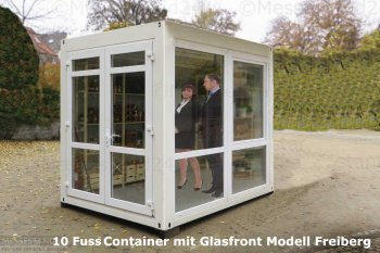 10 Fuss Eventcontainer mit bodentiefen Fenstern