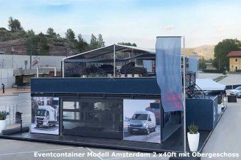 Seecontainer 40ft als Eventcontainer für Roadshows und Messen