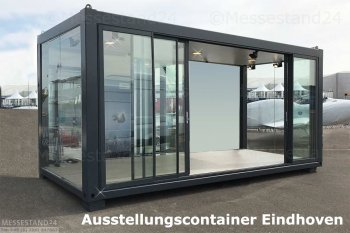 eventcontainer 1 messecontainer f r events ausstellungen showrooms und messen in. Black Bedroom Furniture Sets. Home Design Ideas