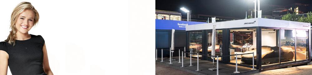 Verglaste Messecontainer für mobile Inszenierungen Ihrer Produkte!