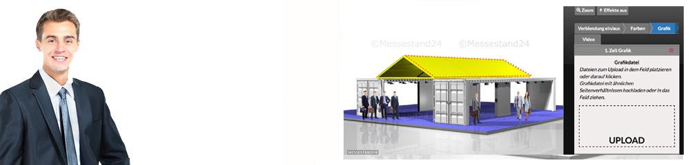 Testen Sie Ihr Design und Ihre Firmenfarben auf einer 40 Fuss Seecontainer-Anlage!