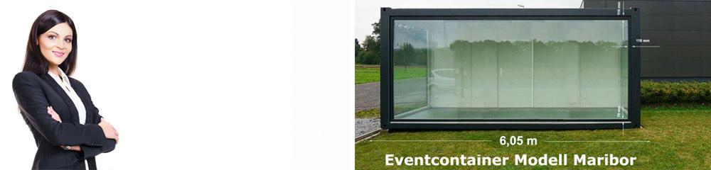 Verglaste Show-und Eventcontainer, ein Schaufenster in Ihr Unternehmen!