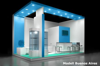 Konfigurierbarer Messestand in individueller Bauweise, Modell Buenos Aires