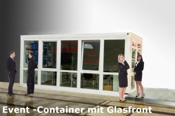 eventcontainer ausstellungscontainer f r events und messen mieten oder kaufen branding. Black Bedroom Furniture Sets. Home Design Ideas